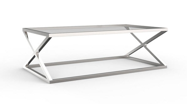 Awesome Wellliked Rectangle Glass Chrome Coffee Tables Within Modern Chrome Glass Coffee Table Design (View 6 of 50)