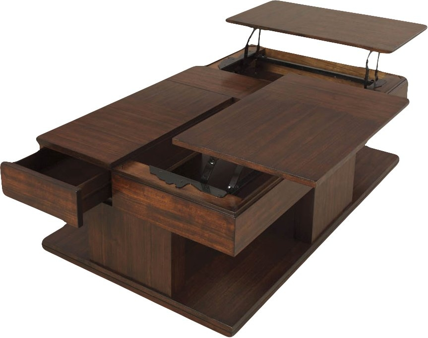 Awesome Wellliked Rustic Coffee Tables With Bottom Shelf Intended For Modern Coffee Tables Allmodern (Image 12 of 50)