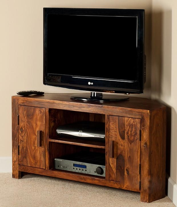 Awesome Wellliked Sheesham Wood TV Stands Intended For Lifeestyle Handcrafted Sheesham Wood Tv Stand Buy Lifeestyle (View 16 of 50)