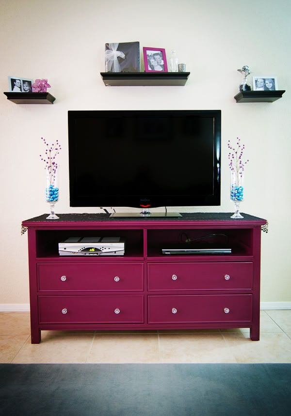Awesome Wellliked Small TV Stands For Top Of Dresser In Best 25 Tv Stand Makeover Ideas Only On Pinterest Dresser Tv (Image 7 of 50)
