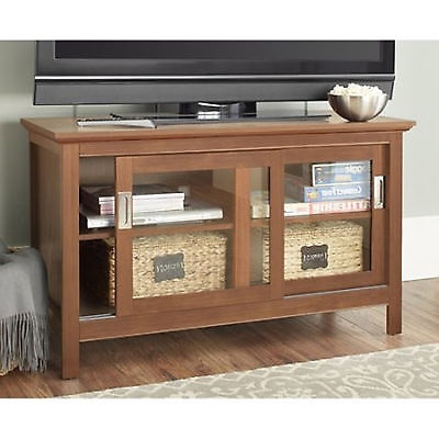 Awesome Wellliked Walnut TV Stands For Flat Screens Pertaining To Tv Stand For Flat Screens Media Center Console Wood Cabinet Glass (Image 9 of 50)