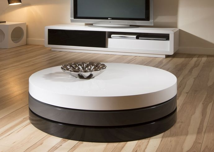 Awesome Wellliked White Circle Coffee Tables Inside Modern White Round Coffee Table Table And Estate (Image 4 of 50)