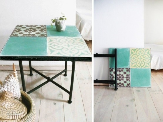 Awesome Widely Used Boho Coffee Tables Throughout Boho Touch For Your Home Moroccan Tile Side Table Digsdigs (View 49 of 50)