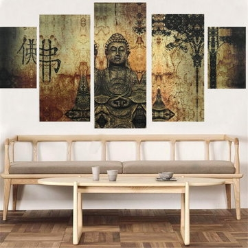 Awesome Widely Used Buddha Coffee Tables In Frameless Huge Buddha Abstract Canvas Oil Painting Modern Art Home (Image 11 of 50)