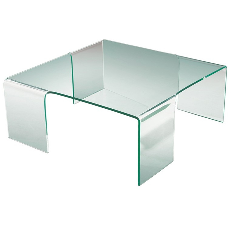 Awesome Widely Used Curved Glass Coffee Tables Regarding Bent Glass Coffee Table (Image 6 of 50)
