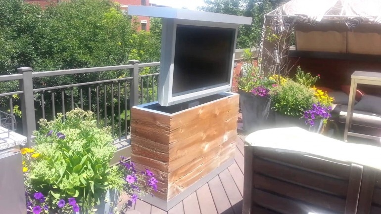 Awesome Widely Used Enclosed TV Cabinets For Flat Screens With Doors Inside Outdoor Outstanding Outdoor Tv Cabinets Design For Home (Image 11 of 50)