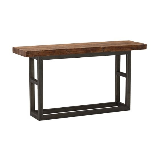 Awesome Widely Used Griffin Coffee Tables Intended For Griffin Reclaimed Wood Console Table Pottery Barn (View 20 of 50)