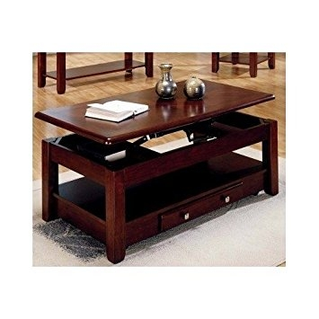 Awesome Widely Used Lift Top Coffee Tables With Storage Throughout Amazon Lift Top Coffee Table In Cherry Finish With Storage (Image 15 of 50)