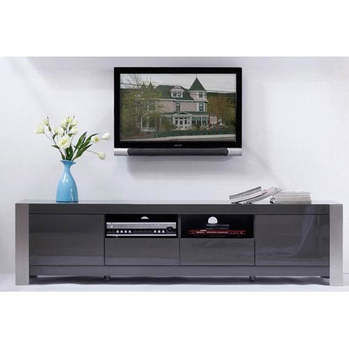 Awesome Widely Used Low Profile Contemporary TV Stands With Regard To Alexandria 60 Inch Low Profile Tv Stand In Black Finish Crosley (Image 11 of 50)