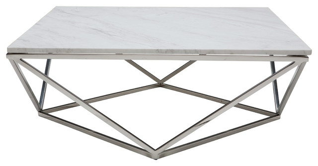 Awesome Widely Used Marble And Metal Coffee Tables Regarding Jasmine Coffee Table Contemporary Coffee Tables Advanced (Image 10 of 40)