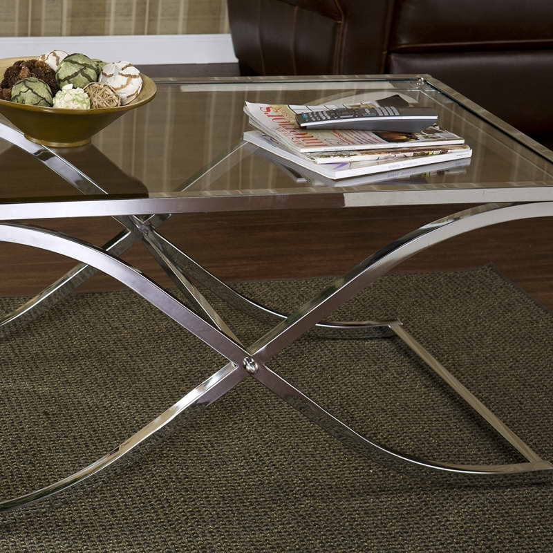 Awesome Widely Used Metal And Glass Coffee Tables Within Metal And Glass Coffee Table Batimeexpo Furniture (View 41 of 50)
