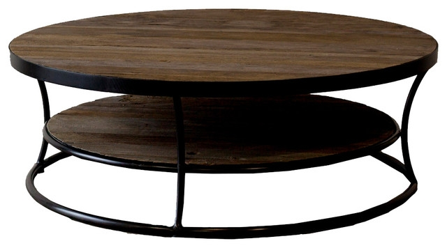 Awesome Widely Used Metal Round Coffee Tables Within Collection In Round Industrial Coffee Table Cherry Round Coffee (Image 10 of 50)