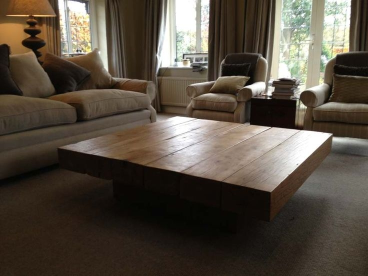 Awesome Widely Used Oak Square Coffee Tables Pertaining To Best 25 Large Square Coffee Table Ideas On Pinterest Large (Image 7 of 50)