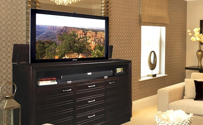 Awesome Widely Used Pop Up TV Stands Intended For Tv Lifts Hidden Tv Cabinets For 50 Off Tvliftcabinet (Image 7 of 50)