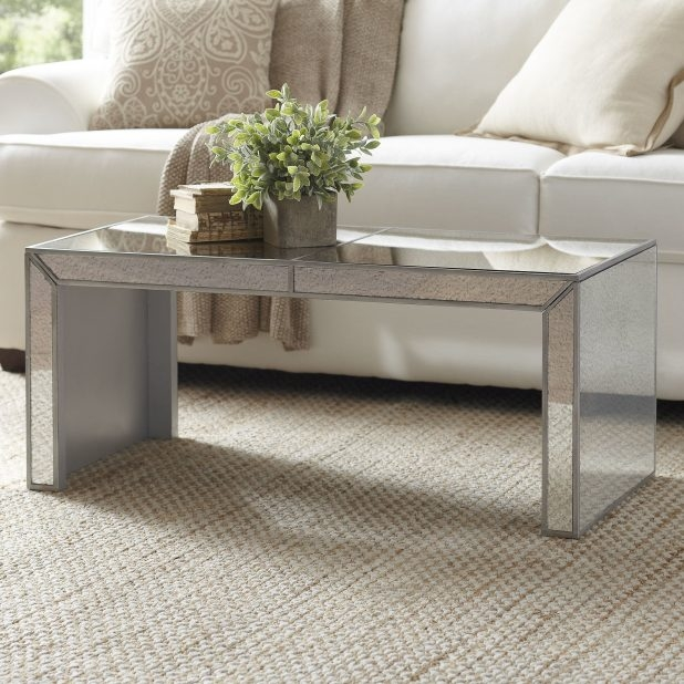 Awesome Widely Used Small Mirrored Coffee Tables For Wonderful Mirrored Coffee Table 142 Mirrored Coffee Table And Side (View 37 of 50)