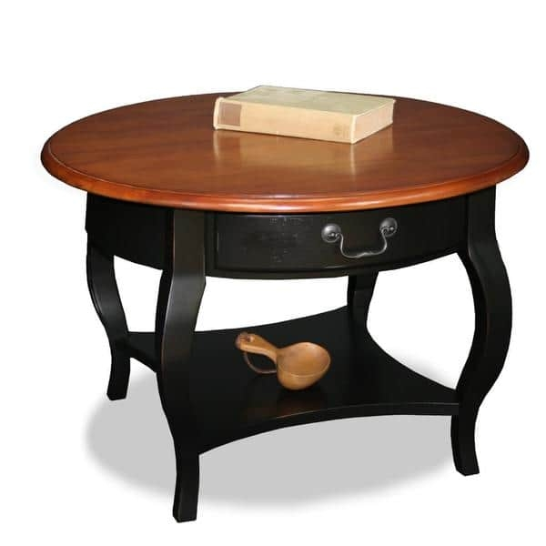 Awesome Widely Used Solid Round Coffee Tables Regarding Brown Cherry Slate Solid Wood Coffee Table Free Shipping Today (Image 5 of 40)