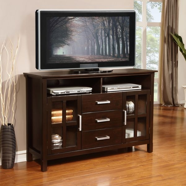 Awesome Widely Used Tall TV Stands For Flat Screen Intended For Tv Stands Adjustable Height Tall Tv Stand With Mount 40 Tall Tv (Image 8 of 50)