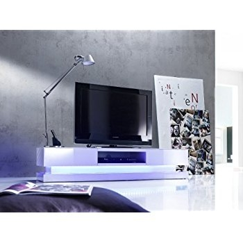 Awesome Widely Used TV Stands With LED Lights Within Sven High Gloss Tv Stand With Led Lights Amazoncouk Kitchen Home (Image 7 of 50)
