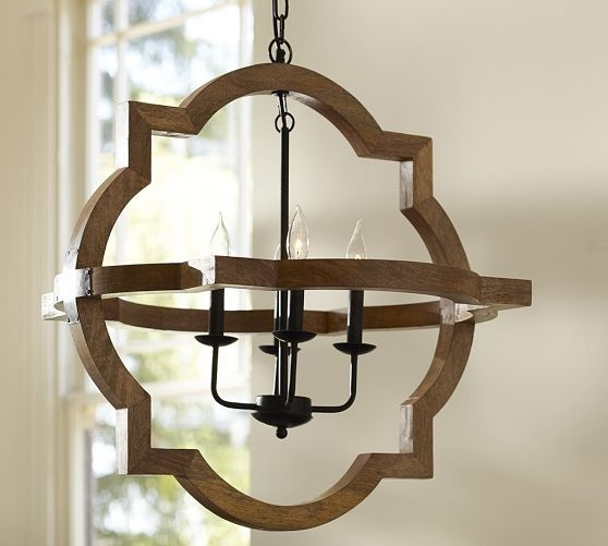 Awesome Wood And Metal Chandelier Round Ball Shaped Metal And Wood Intended For Metal Ball Chandeliers (Image 2 of 25)