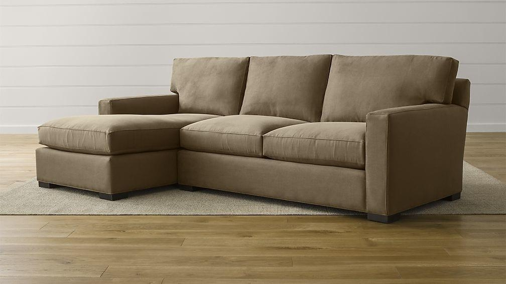 Axis Ii 2 Piece Sectional Couch | Crate And Barrel Inside 2 Piece Sectional Sofas (Image 5 of 20)