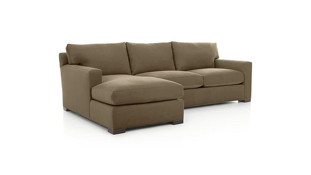 Axis Ii 2 Piece Sectional Couch | Crate And Barrel Inside 2 Piece Sectional Sofas (Image 4 of 20)