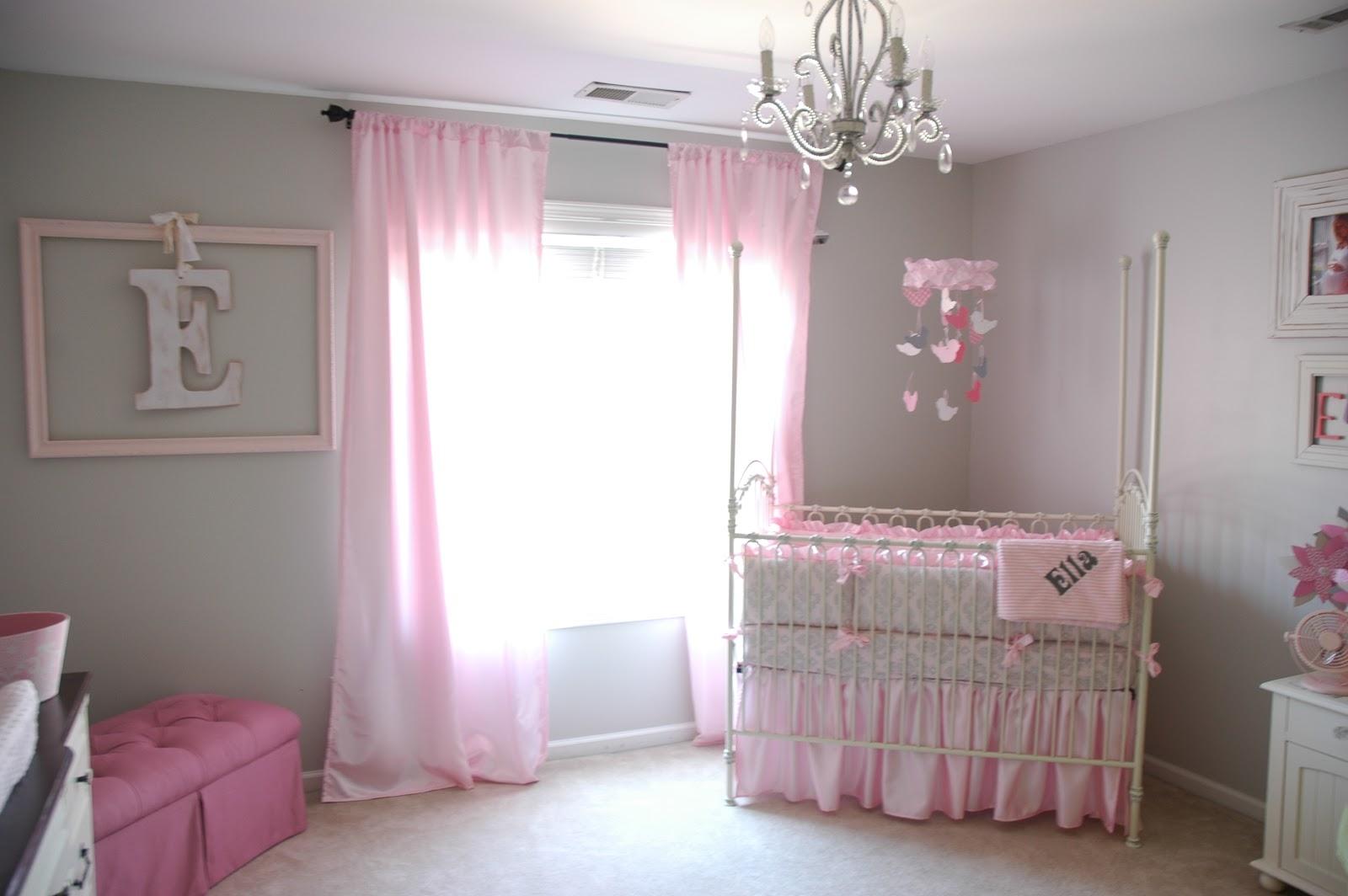 Ba Nursery Decor Pretty Crystal Chandelier Ba Girl Nursery Within Crystal Chandeliers For Baby Girl Room (View 19 of 25)