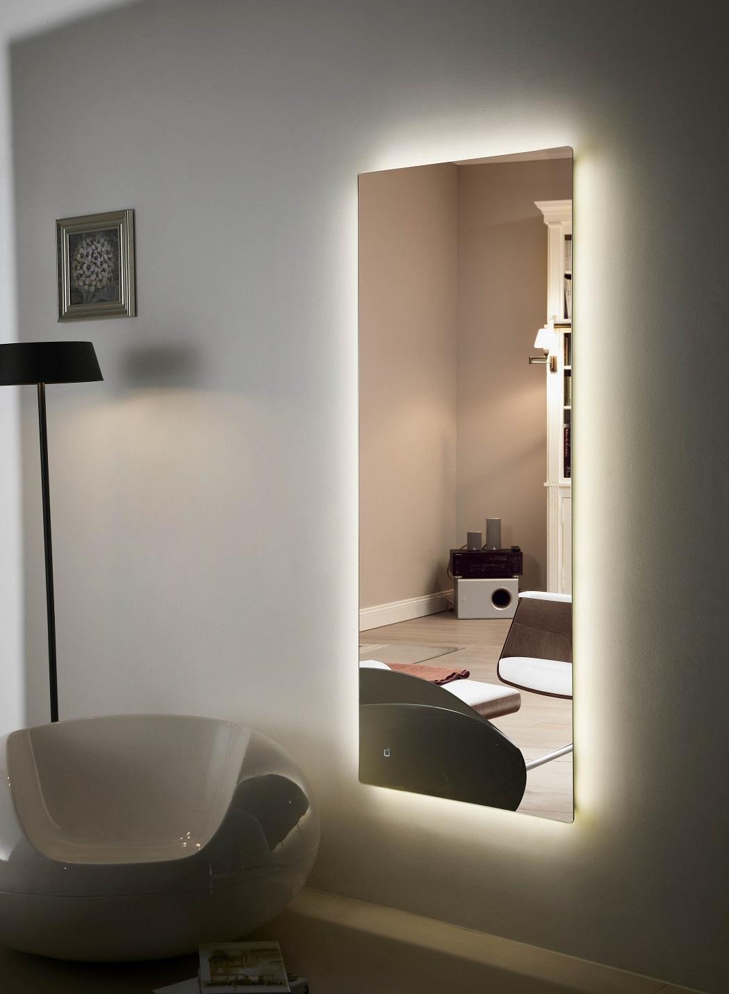 Backlit Bathroom Mirrors Usa Creative Decoration Including Regarding Large Illuminated Mirror (Image 3 of 20)