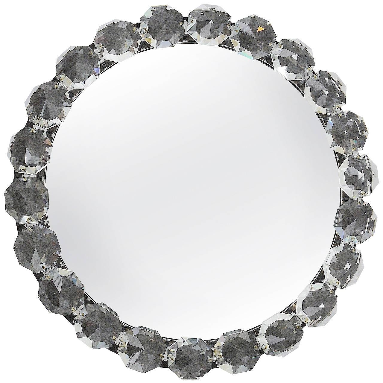 Bakalowits Vienna Round Backlit Wall Mirror With Huge Crystals In Mirror With Crystals (Image 4 of 20)
