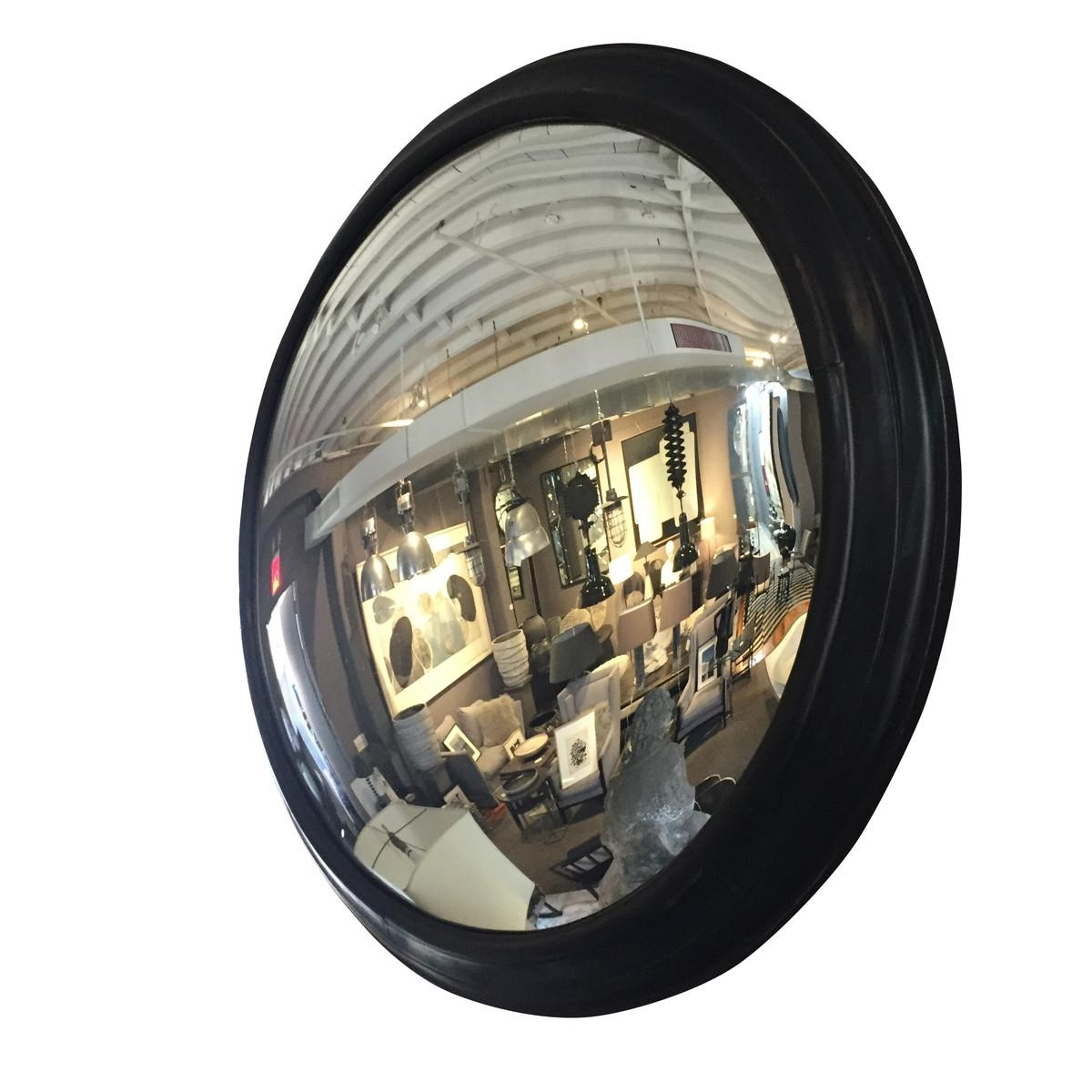 Balsamo Antiques | 19Thc French Napoleon Iii Extra Large Round Inside Large Round Convex Mirror (Image 1 of 20)