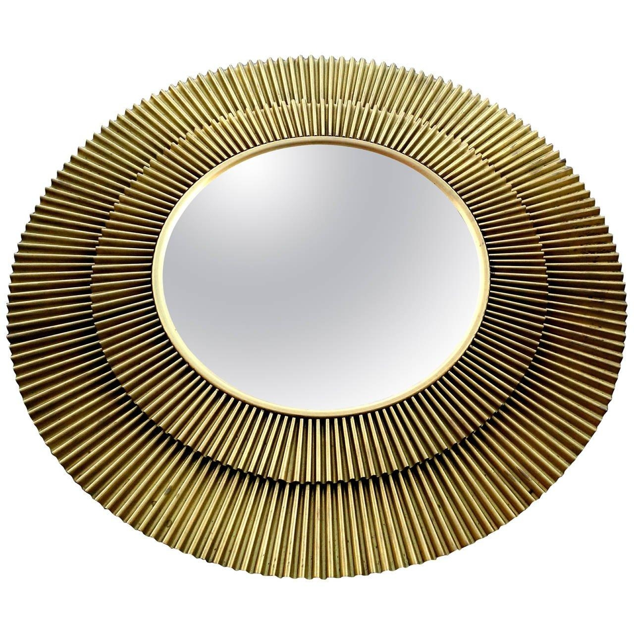 "Barbara Barry Brass ""radiance"" Convex Starburst Mirror At 1Stdibs With Starburst Convex Mirror (Image 2 of 20)"
