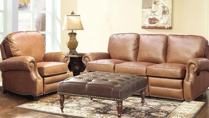 Barcalounger Longhorn Ii Leather Recliner Chair – Leather Recliner With Barcalounger Sofas (View 2 of 20)