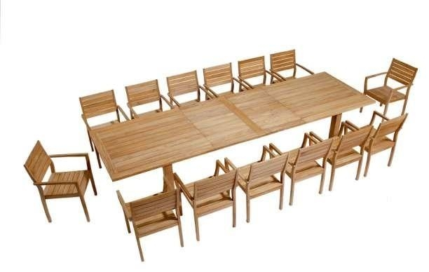 Barlow Tyrie Apex Teak Rectangular Extending Dining Table Within Extending Outdoor Dining Tables (Image 4 of 20)