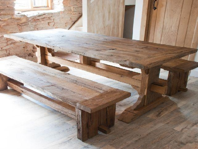 Barnwood Dining Room Tables Throughout Cheap Reclaimed Wood Dining Tables (View 7 of 20)