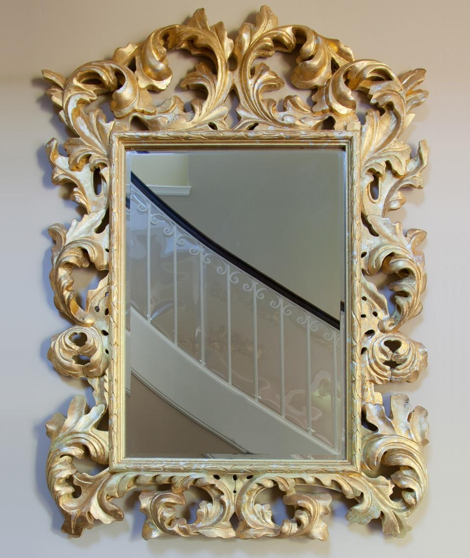 Baroque Gold Leaf Mirror « House Of Ruby Interior Design With Regard To Gold Baroque Mirror (Image 6 of 20)