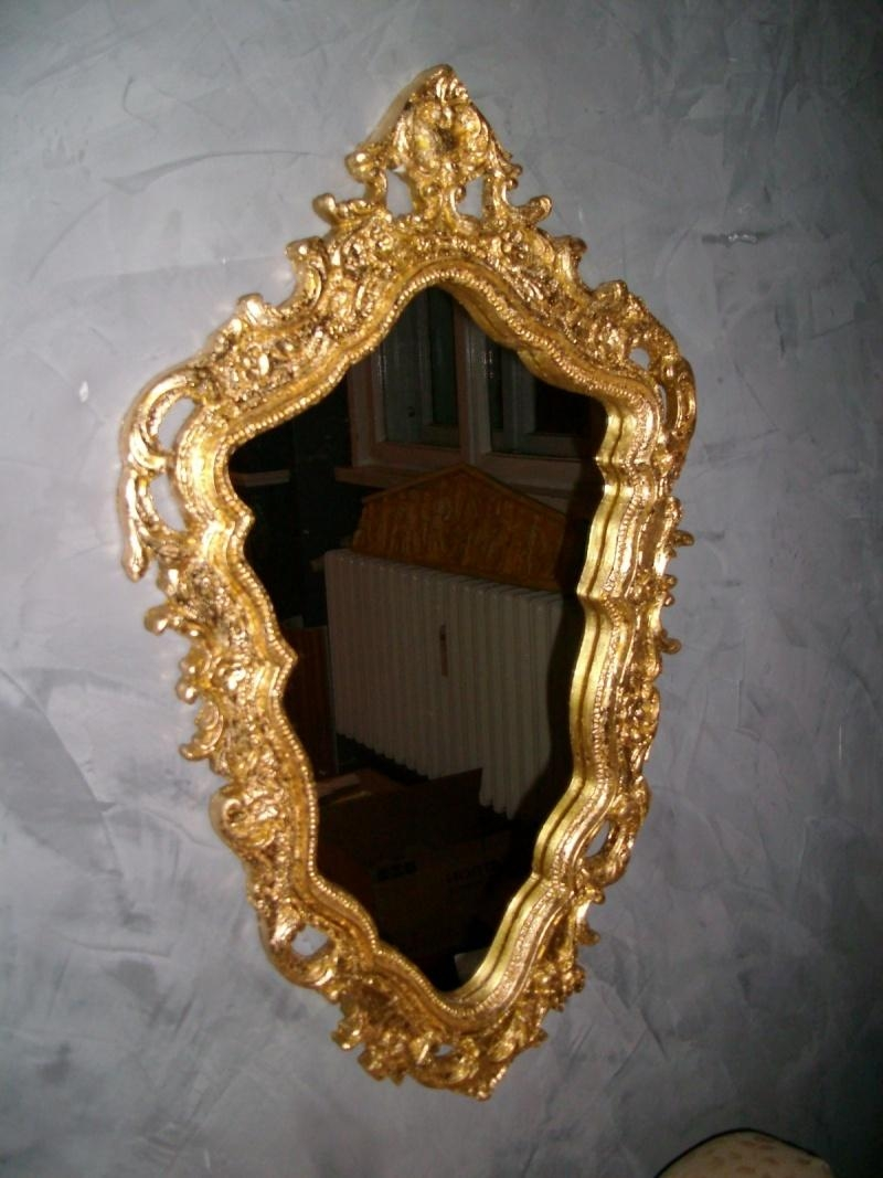 Baroque Mirror Frame – Gilded – Gypsum Decoration, Interior And Inside Gold Baroque Mirror (Image 8 of 20)