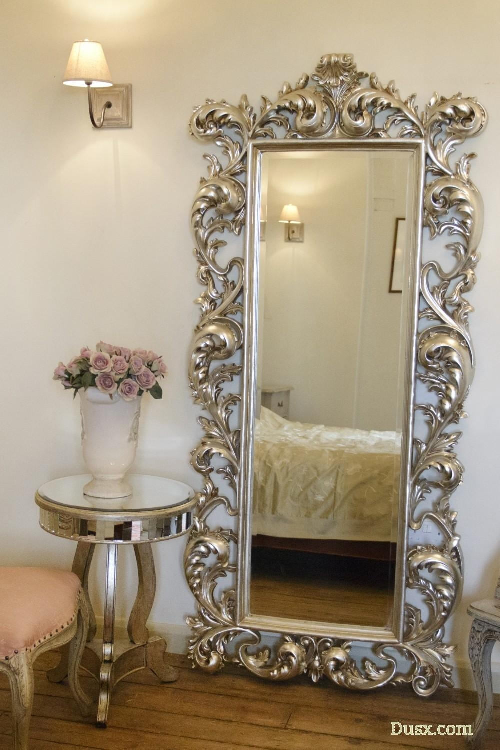 Baroque Silver Free Standing Mirror: For Sale At Www (Image 2 of 20)