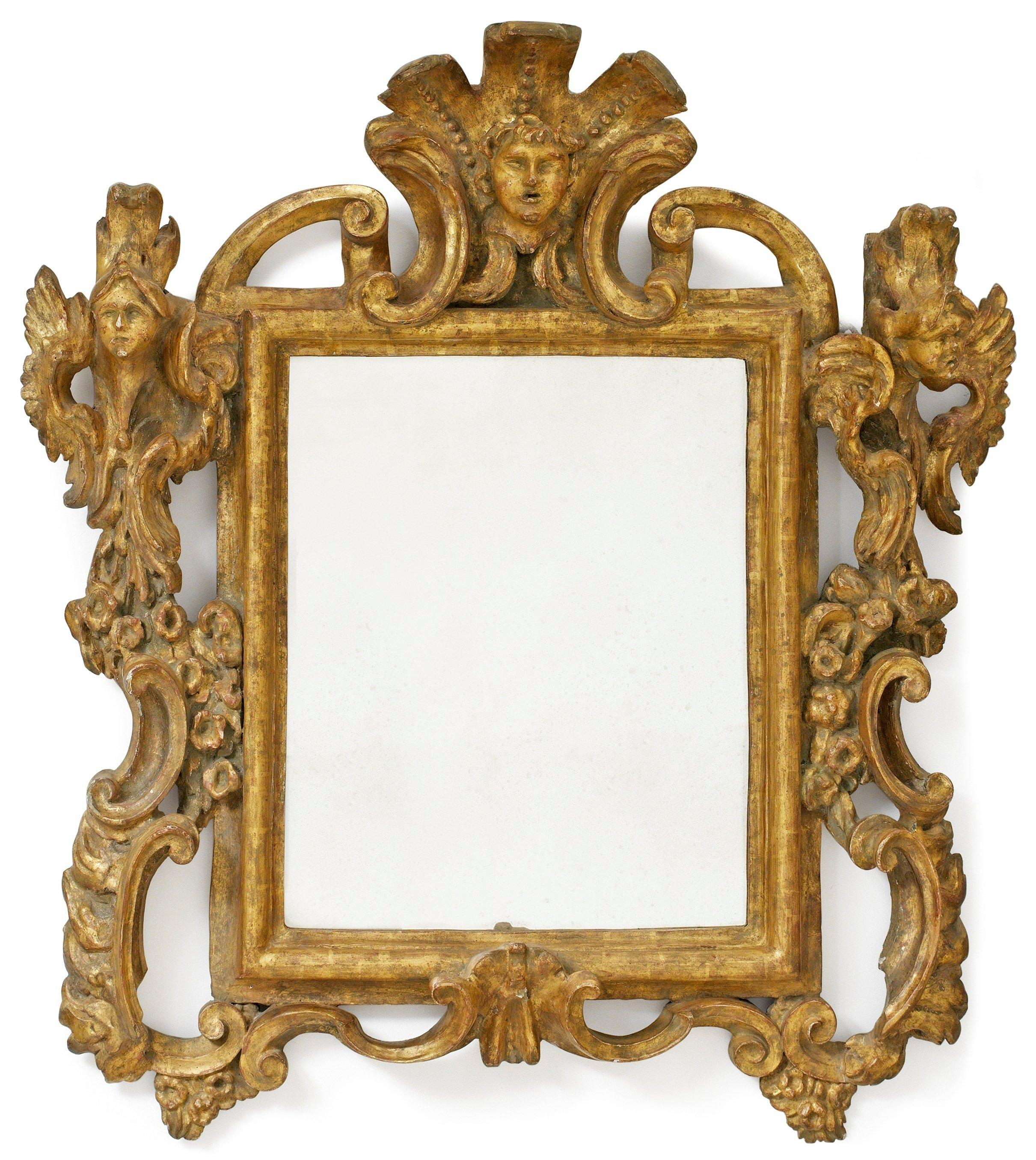 Bathroom: Astounding Baroque Mirror With Unique Frame For Bathroom In Large Baroque Mirror (Image 4 of 20)