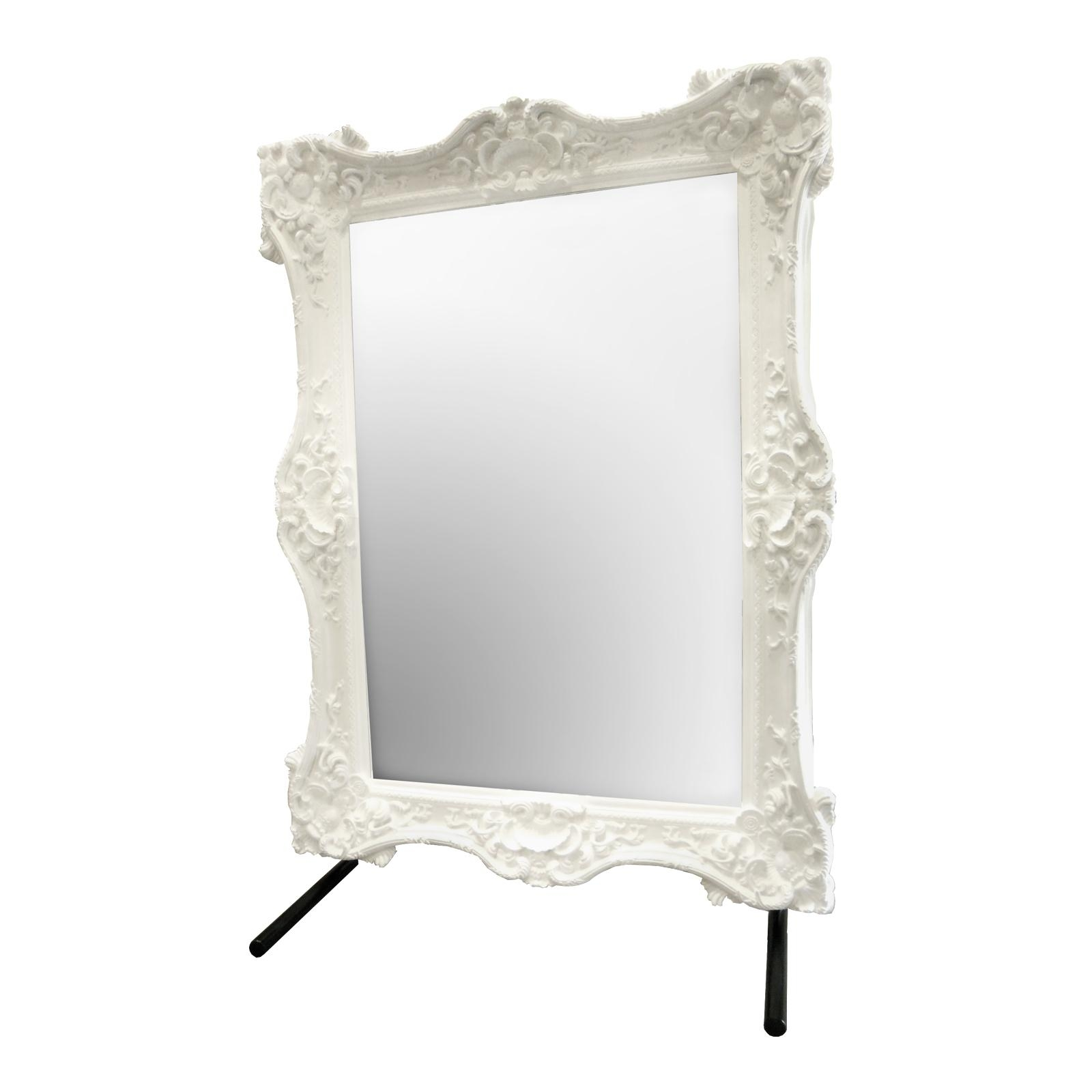 Bathroom: Astounding Baroque Mirror With Unique Frame For Bathroom Intended For Baroque Black Mirror (Image 4 of 20)
