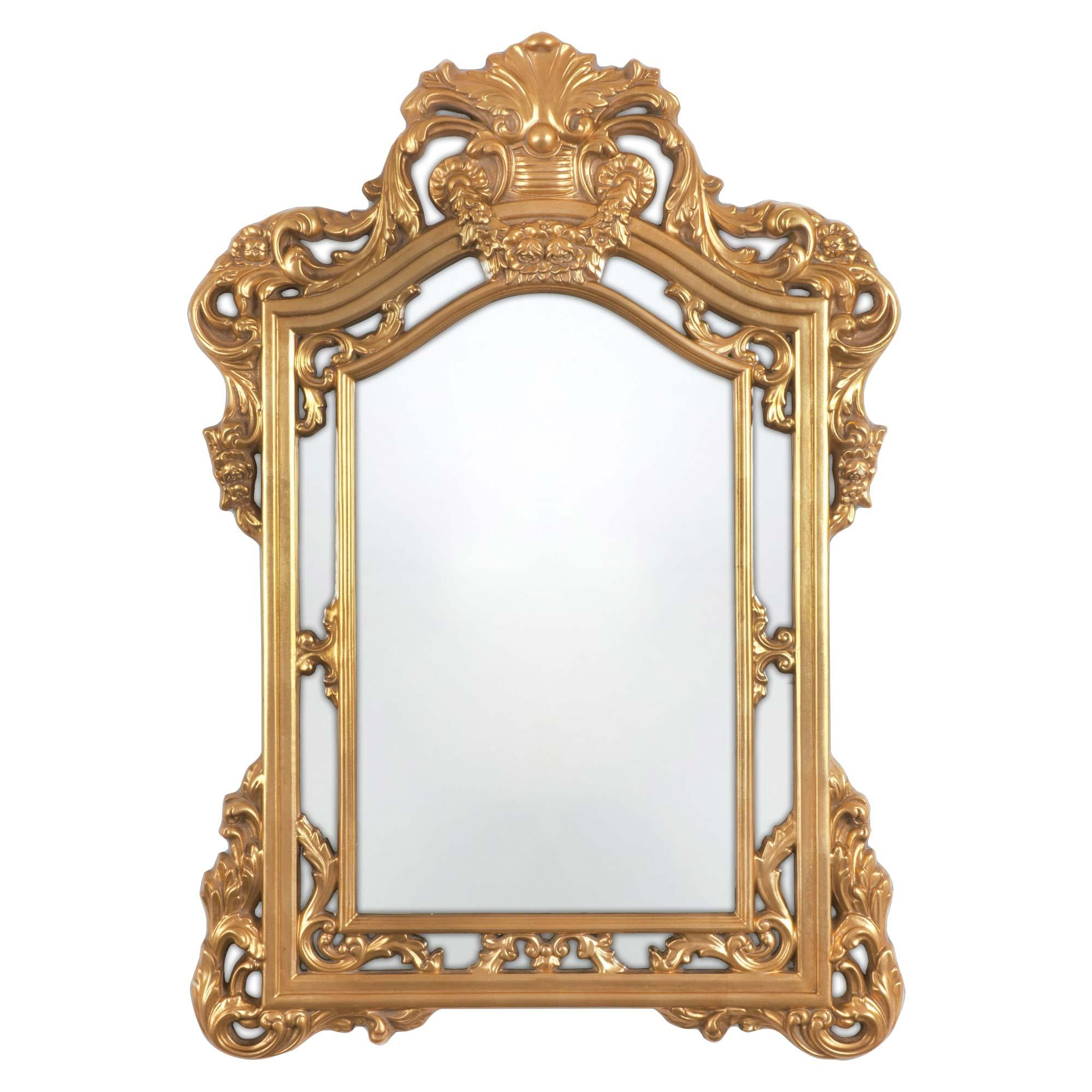 Bathroom: Astounding Baroque Mirror With Unique Frame For Bathroom Within Baroque Mirror Silver (Image 6 of 20)