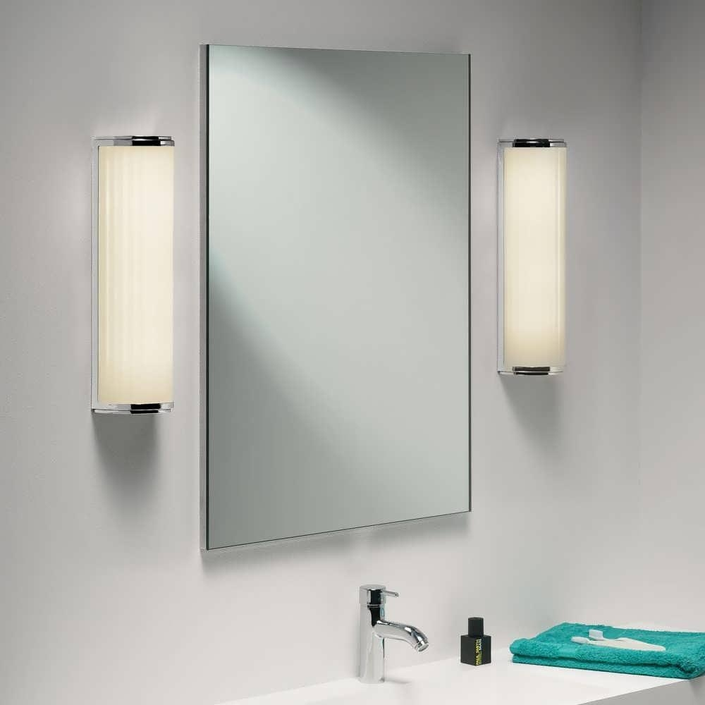 Bathroom : Bathroom Wall Lights Vanity Set With Lighted Mirror Intended For Mirror Wall Light (Image 4 of 20)