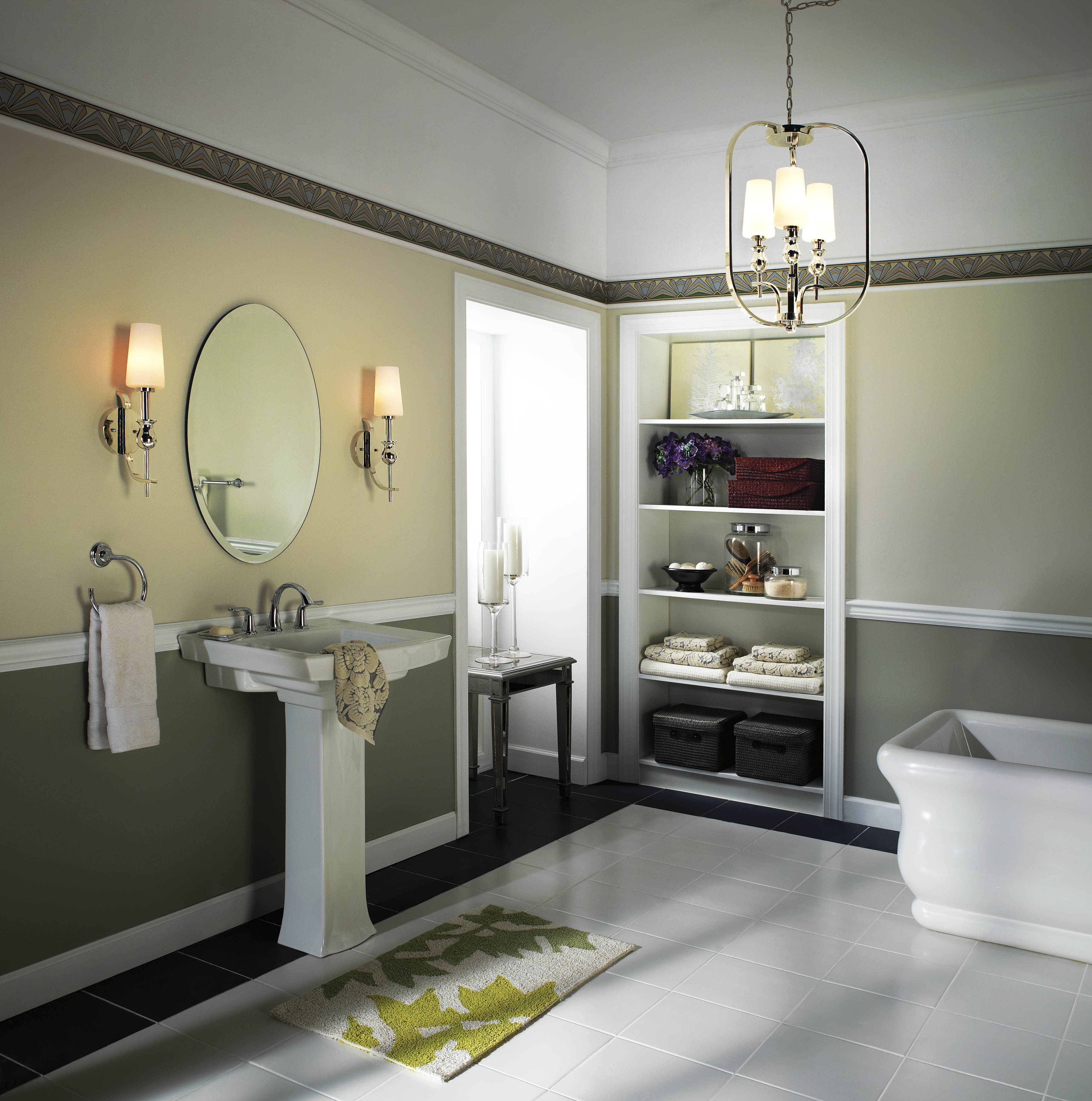 Bathroom Chandelier Ideas For Lowes Bathroom Lighting In Modern Bathroom Chandelier Lighting (Image 2 of 25)