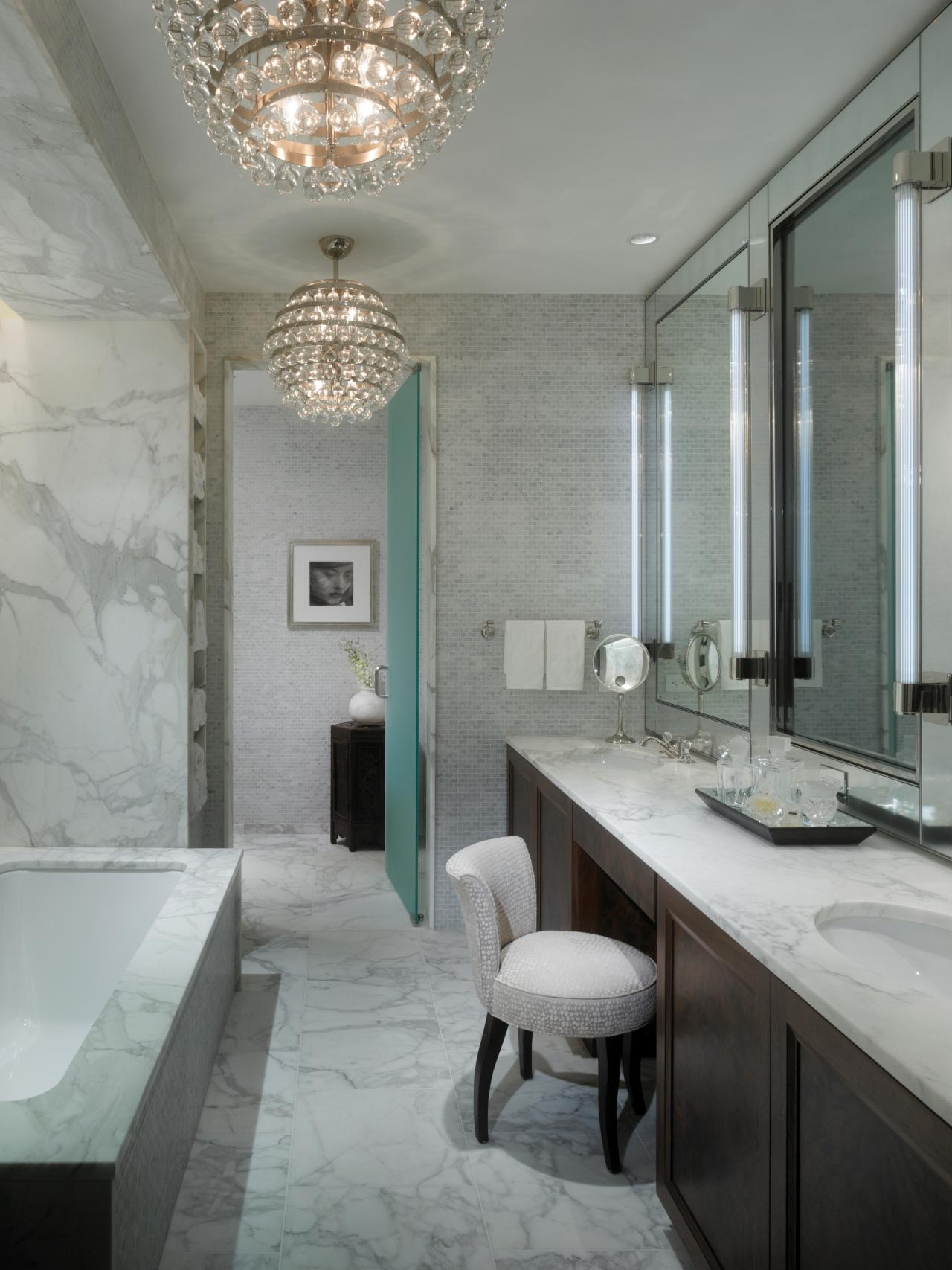 Bathroom Chandelier Lighting Bathroom Decorating Tips And Ideas Throughout Modern Bathroom Chandelier Lighting (Image 3 of 25)