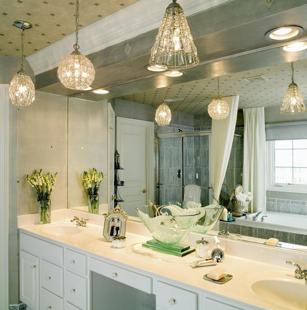 Bathroom Chandelier Lighting With Fans Interiordesignew With Bathroom Chandelier Lighting (Image 3 of 25)