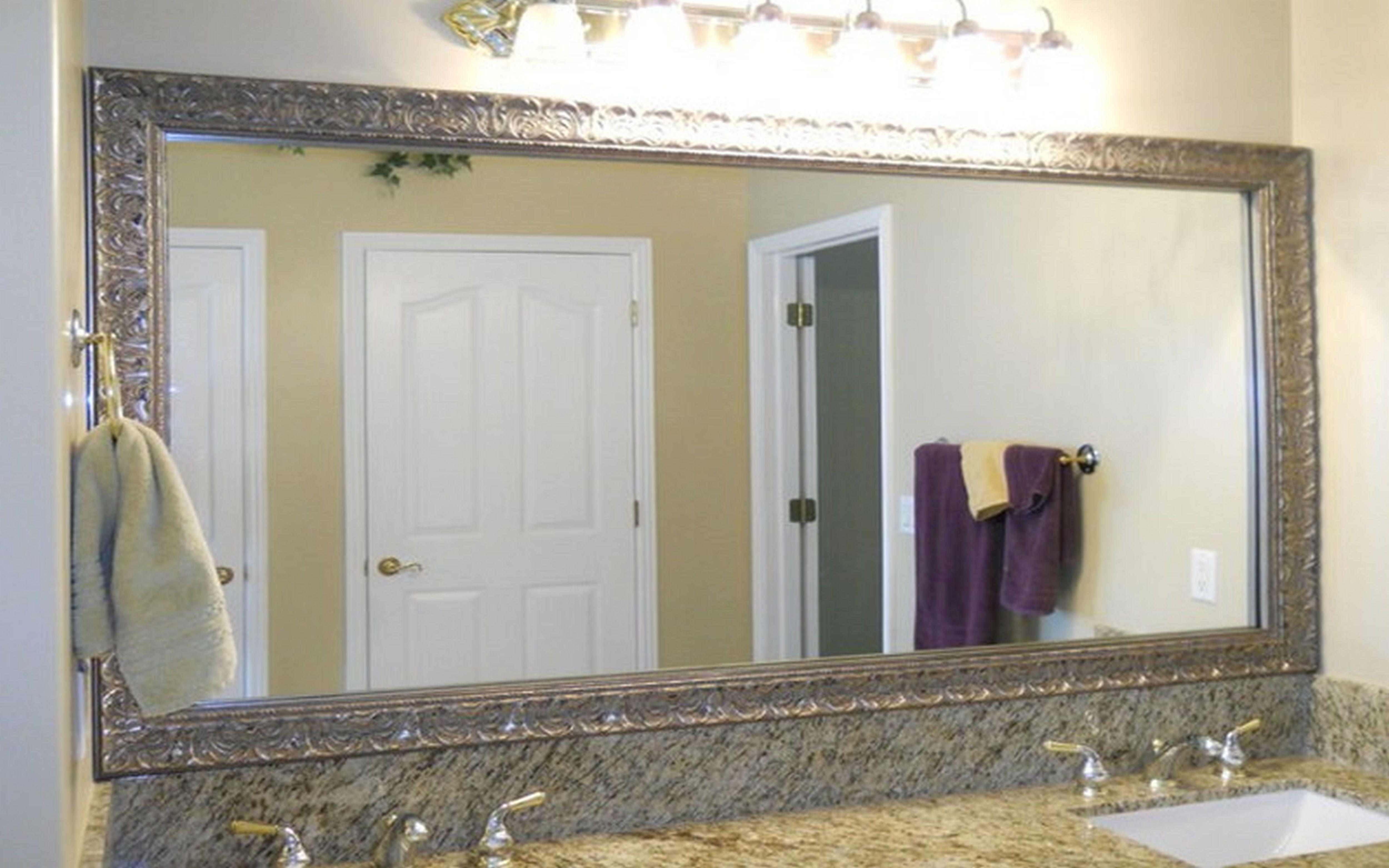 Bathroom: Elegant Bathroom Decor With Large Framed Bathroom For Extra Large Venetian Mirror (Image 1 of 20)
