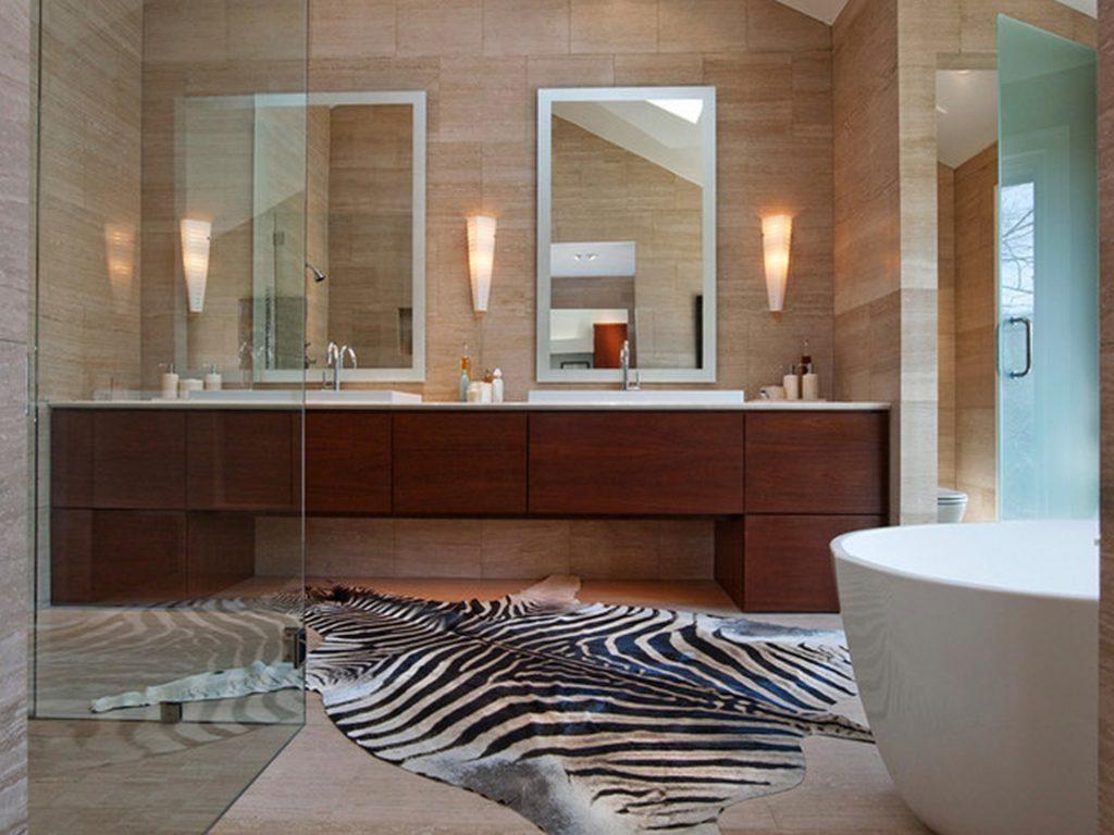 Bathroom: Elegant Bathroom Decor With Large Framed Bathroom With Extra Large Venetian Mirror (Image 3 of 20)