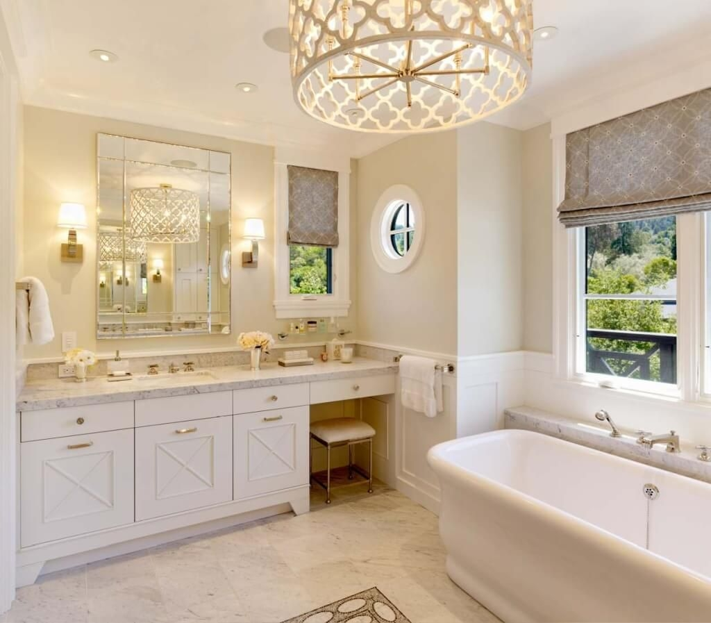 Bathroom Enchanting Warmth Crystal Bulb Lights Bathroom Within Chandelier Bathroom Ceiling Lights (Image 11 of 25)