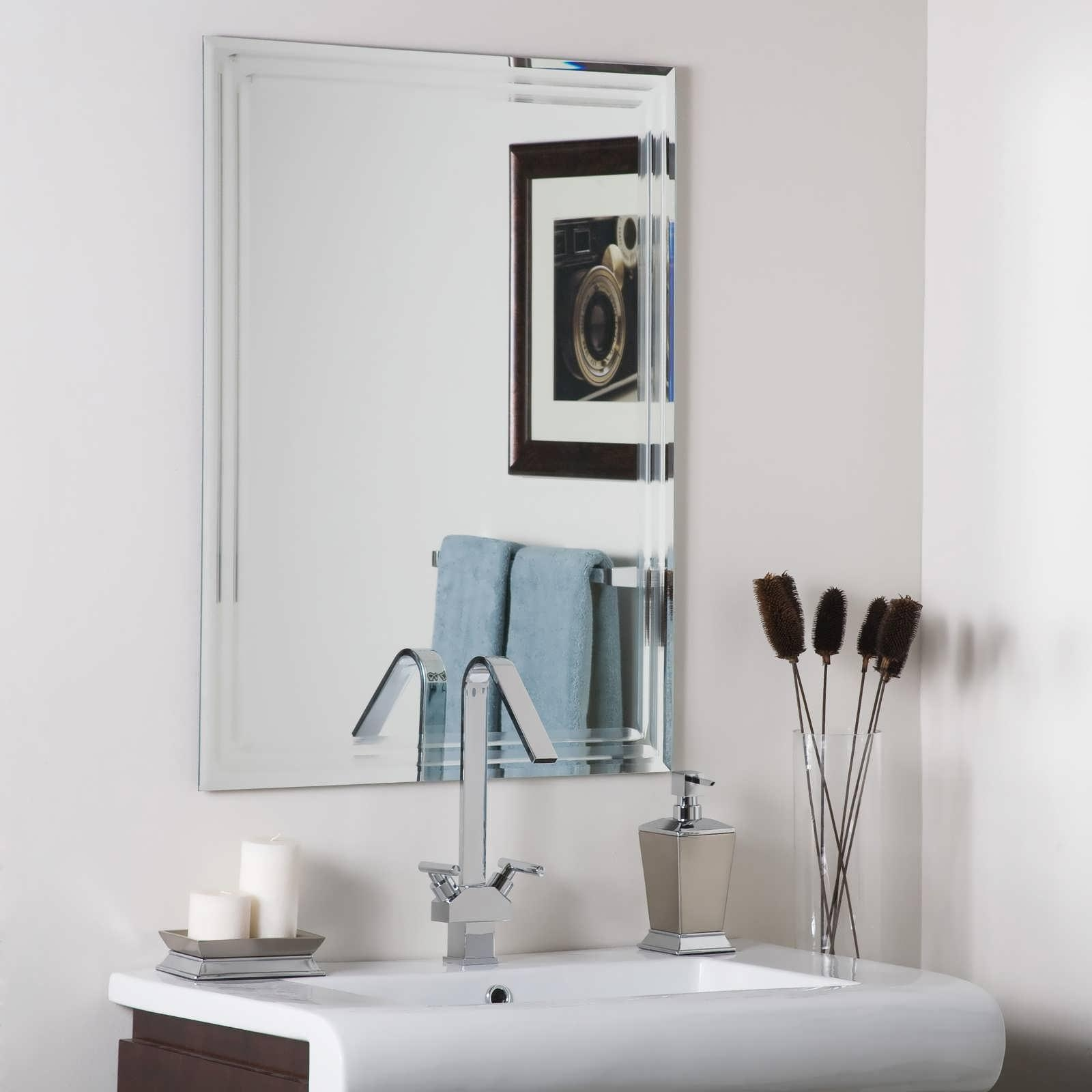 Deco Bathroom Mirror: 20+ Art Deco Frameless Mirror
