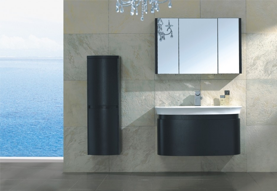 Bathroom Ideas Single Sink Modern Black Bathroom Vanity Under Within Wall Mounted Bathroom Chandeliers (Image 6 of 25)