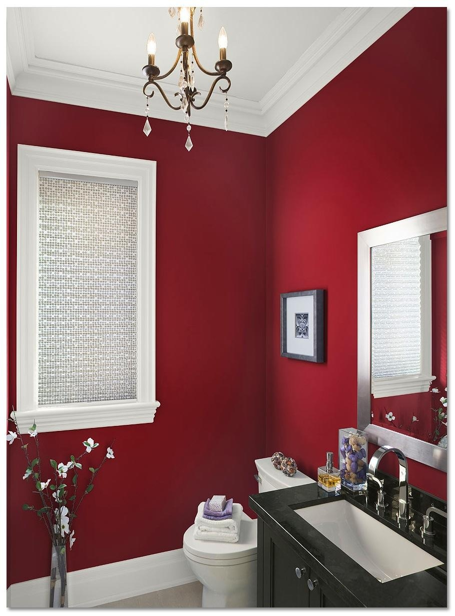 Bathroom : Inspiring Colors For Bathrooms Bathroom Color Inside Red Wall Mirror (View 10 of 20)
