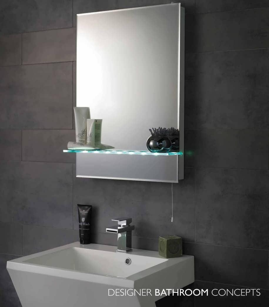 Bathroom : Large Led Bathroom Mirrors Modern Mirror Frames Modern With Regard To Large Modern Mirror (Image 3 of 20)